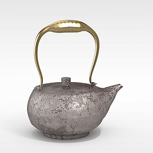 中式復古懷舊茶壺模型