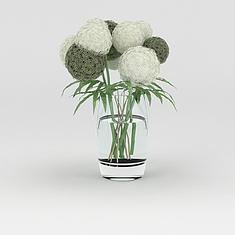 时尚玻璃工艺花瓶摆件3D模型3d模型