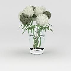 时尚玻璃工艺花瓶摆件模型3d模型
