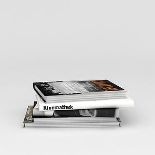 英文书刊杂志3d模型3d模型