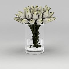 室内精美花瓶摆件模型3d模型