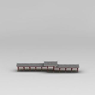 中式庭院回廊3d模型3d模型