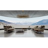 客厅咖啡色休闲沙发椅子组合3D模型3d模型