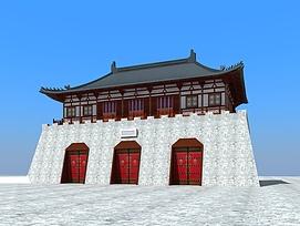 中国古城楼3d模型