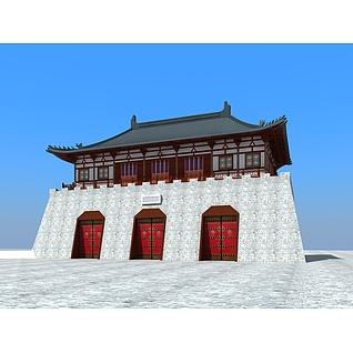 中国古城楼3d模型3d模型