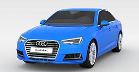 时尚蓝色奥迪跑车3d模型