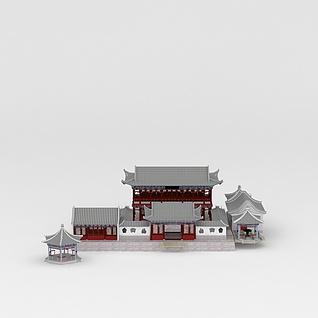 中国古代建筑寺庙景观3d模型3d模型