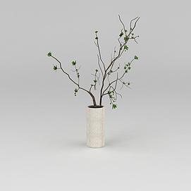 室内绿植花瓶摆件3d模型
