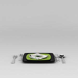 西餐餐具套装模型3d模型