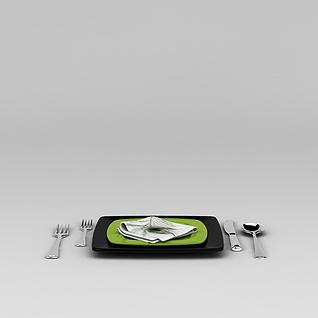 西餐餐具套装3d模型