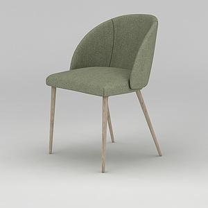 3d北欧清新色?#30340;?#20241;闲椅模型