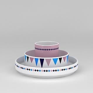厨房陶瓷用品3d模型