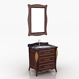 新古典浴室柜模型