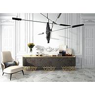 时尚高端客厅边柜沙发椅组合3D模型3d模型