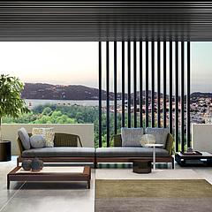 现代休闲客厅沙发茶几组合3D模型3d模型