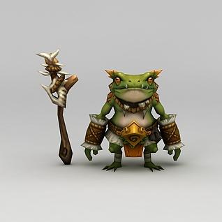 召唤师联盟游戏角色青蛙3d模型