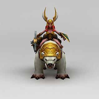召唤师联盟寒霜骑士游戏角色3d模型3d模型