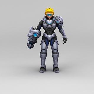 召唤师联盟未来奇兵游戏人物3d模型