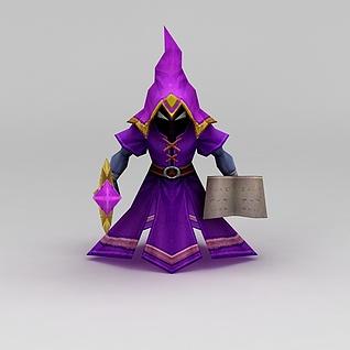 召唤师联盟女巫游戏角色3d模型3d模型