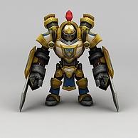 召唤师联盟战士3D模型3d模型
