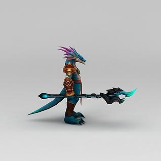 召唤师联盟蜥蜴人游戏角色3d模型3d模型
