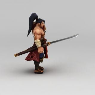 召唤师联盟无畏剑魂游戏角色3d模型3d模型