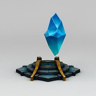 召唤师联盟蓝色晶石道具装备3d模型