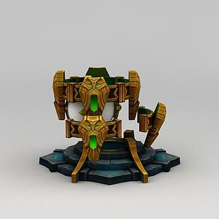 召唤师联盟游戏道具3d模型