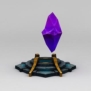 召唤师联盟紫色晶石道具装备3d模型