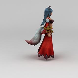 召唤师联盟魅影妖狐游戏角色3d模型