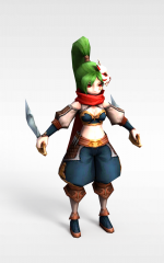 召唤师联盟美女战士游戏人物模型3d模型