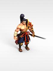 召唤师联盟无畏剑魂游戏角色模型3d模型
