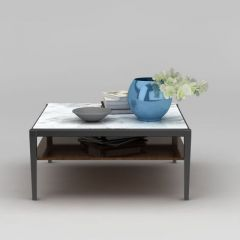 大理石方桌摆件组合模型3d模型