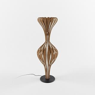 新中式时尚创意台灯3d模型