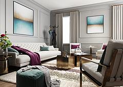 现代客厅沙发茶几组合模型3d模型