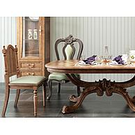 欧式实木餐桌椅组合3D模型3d模型