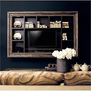 新古典电视墙3d模型