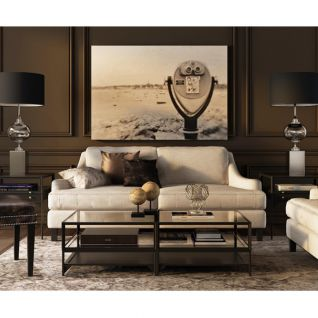 米白色布艺沙发茶几组合3d模型