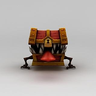 召唤师联盟游戏角色箱子兽3d模型3d模型