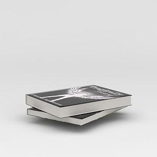 英文书籍3d模型3d模型