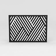 现代黑白条纹墙壁装饰画3D模型3d模型
