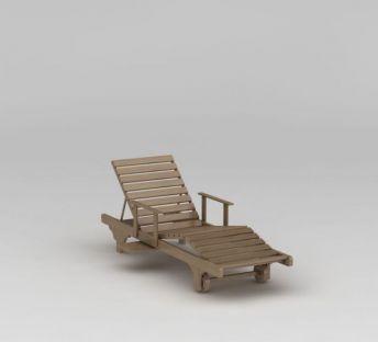 休闲实木趟椅