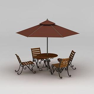 露天咖啡厅3d模型