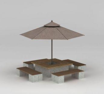 公园遮阳伞太阳伞