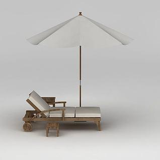 户外休闲伞座3d模型
