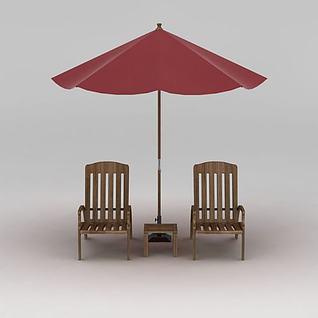室外休闲茶座3d模型