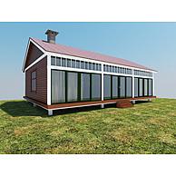 现代木屋别墅3D模型3d模型