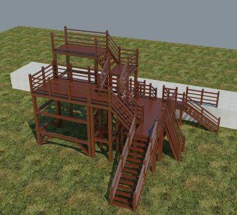 木质平台观望台