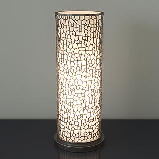 现代圆柱形镂空雕花台灯3d模型