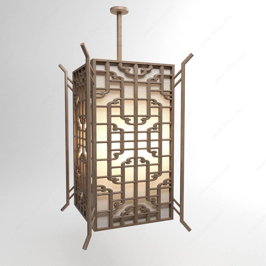 中式仿古雕花吊灯